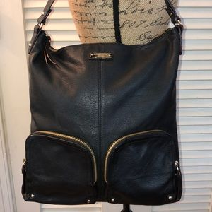 kate spade Pebbled Leather Double Pocket Hobo Tote